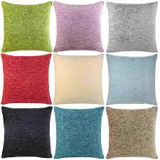 Chocolate Cushion Covers Ideal Textiles Luxury Cushion Covers Plain Chenille Cushion