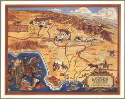 Los Angeles Map Poster by The Historic Ranchos Of Los Angeles In Commemoration Of The City U0027s