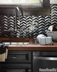 backsplash kitchen design ideas herringbone tile laminate wood