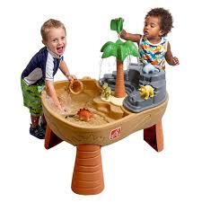 step2 waterwheel play table dino dig sand water table brown