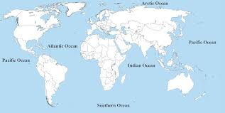 map with oceans map of the within oceans oceans of the map