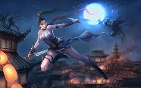 anime wallpapers girls sword fighting anime ninja wallpapers group 62