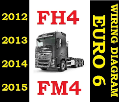 volvo fh4 fm4 fh 2012 to 2015 truck wiring electric diagram