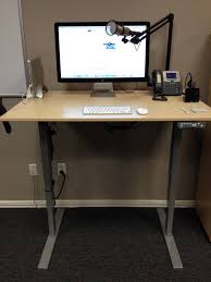 Adjustable Height Computer Desks by Stand Up Computer Desk With Adjustable Height Legs Of 10 Terrific