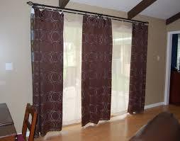 Brown Patio Doors Patio Door Curtain Panel Creative Home Decoration