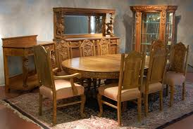 r j horner 12 piece oak dining room set