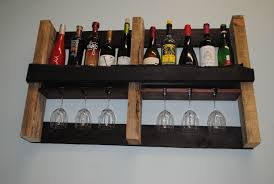 decorating pallet wine rack for home interior decor in kitchen