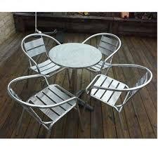 Aluminium Bistro Chairs Aluminium Bistro Set Garden Set 4 Chairs 1 Table Hog Furniture