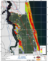 County Map Florida Storm Surge Map St Augustine Beach Florida