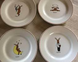 reindeer plates etsy
