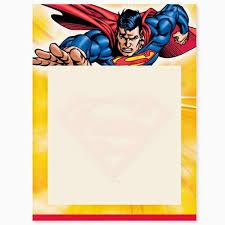 superman free printable invitations frames cards super cian