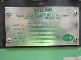 sullair 25 150 acac 150 hp rotary air compressor 115 125
