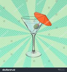martini clipart no background vector illustration glass martini pop art stock vector 754239241