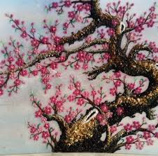 gemstone painting peach blossom 3 gemstone picturegemstone