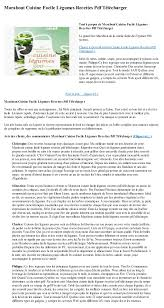recette de cuisine facile pdf marabout cuisine facile legumes recettes pdf telecharger