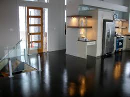 kitchen floor apartment kitchen design with high gloss concrete