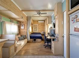 converted solar truck home with warm wooden interior best design