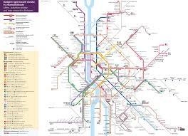 Metro Rail Map by Budapest Metro Tram And Suburban Railway Map