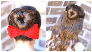 hairstyles using a bun donut how to create a love bun valentine s day hairstyles cute girls