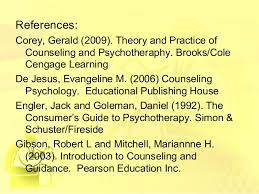 Corey Counselling Theory And Practice Counseling And Psychotherapy
