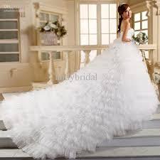 discount 2015 empire strapless beaded bodice ruffles tulle long