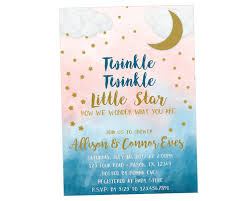 babyshower invitations twinkle twinkle gender neutral baby shower invitations party