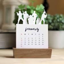 Desk Calendar With Stand Handmade Minimal Star Wars Desk Calendar 2016 With Wood Stand