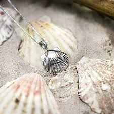 necklace with shell pendant images Sterling silver high polished seashell necklace jpg