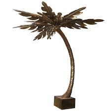 Tree Floor L Regency Sculptural Ostrich Feather Palm Tree Floor L