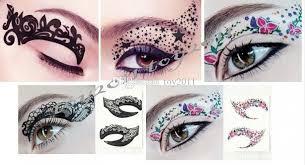 2017 fashion trend makeup eyeliner paste eye sticker painted