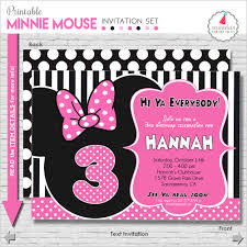minnie mouse birthday invitation printable minnie mouse