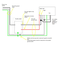 wiring diagram bathroom fan and light the with for gooddy org