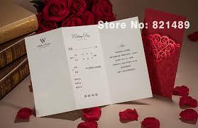 customized wedding invitations aliexpress buy pocket wedding invitation card
