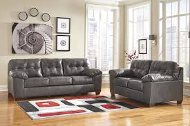 Durablend Leather Sofa Signature Design By Alliston Durablend Gray Sectional W