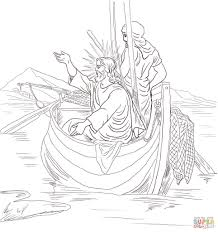 coloring page of jesus jesus teaches from boat coloring page free printable coloring
