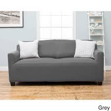 grey twill sofa slipcover home fashion designs dawson collection twill form fit sofa slipcover