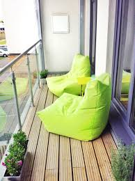 Ideas For Small Balcony Gardens by Green Beanbags For Small Balcony Beanbag Inspiration Pinterest