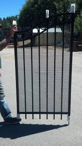 ornamental iron gate with expanded metal ornamental iron fence