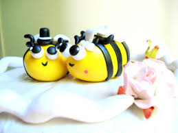 bumble bee cake topper bee wedding cake topper polymer clay bumblebee cake topper inside