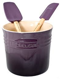 kitchen utensil canister purple spatulas and or purple kitchen utensil holder le creuset