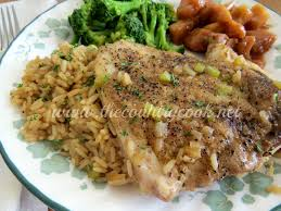 country pork chops and rice the country cook
