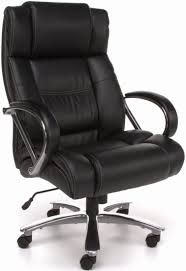 Real Leather Office Chair Ofm 810 Lx Avenger 500 Lb Chair In Black Or Brown Leather