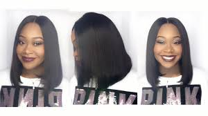 blunt cut bob hairstyle aliexpress mi lisa hair company quick
