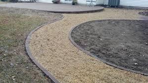 pea gravel patio u0026 walkways with brick border life time pavers