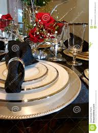 Formal Dining Setting Table Formal Dining Room Place Setting Royalty Free Stock Photos Image