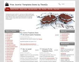 top architect free joomla 1 5 template by themza
