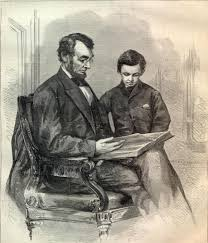 lincoln abe lincoln with his son tad