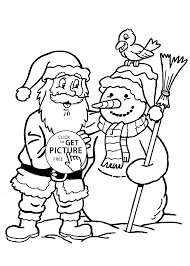 claus and snowman coloring pages for kids printable free