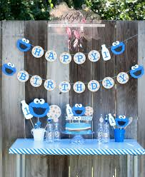 Cookie Monster Baby Shower Decorations Cookie Monster Centerpieces Cookie Monster Milk And Cookies