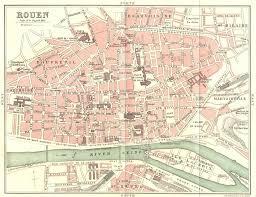 map of rouen seine maritime rouen 1913 map